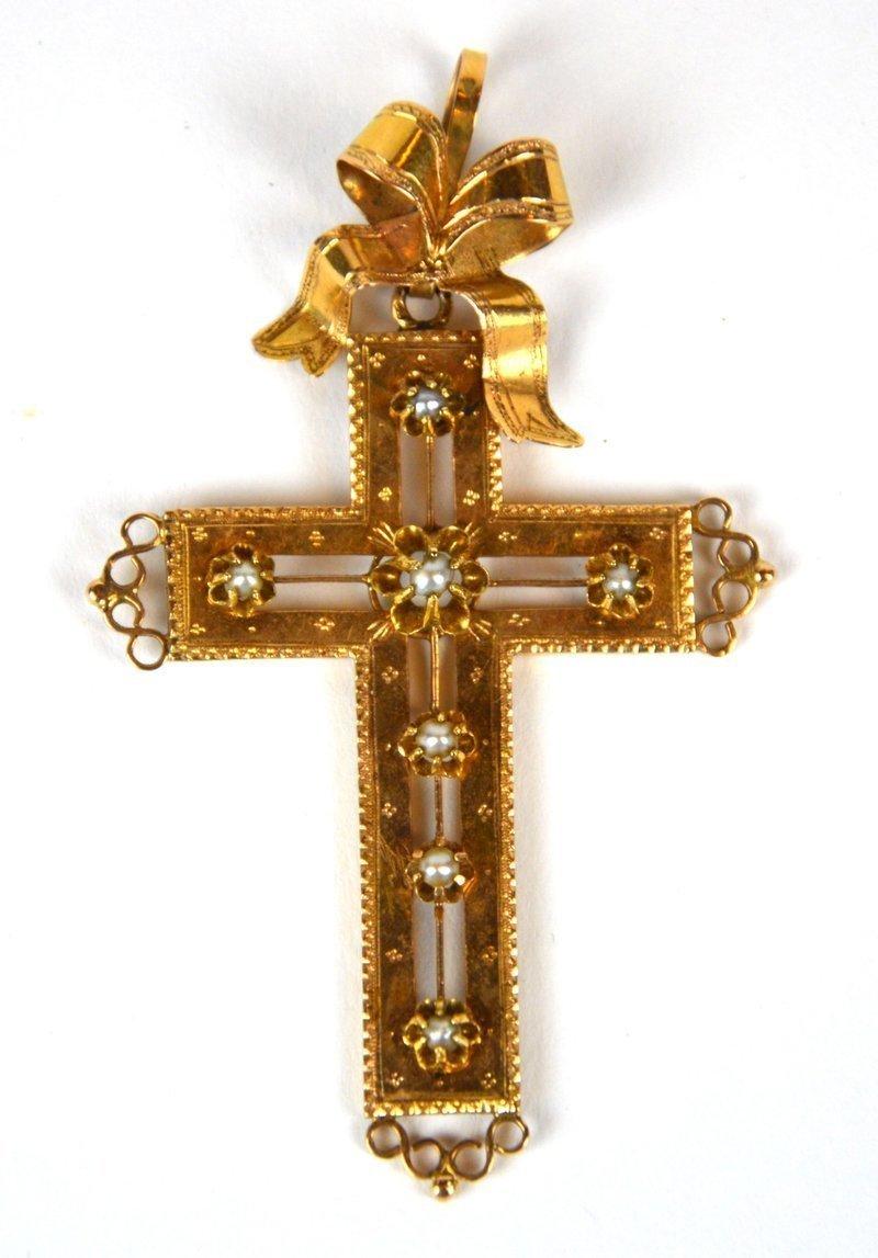 croix en or perles fines lot n 43 bijoux montres i ventes pass es nos ventes. Black Bedroom Furniture Sets. Home Design Ideas