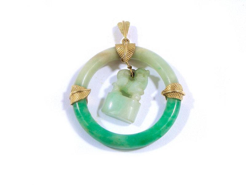 enfant une grande variété de modèles nouveau concept Pendentif en or jaune et jade (Lot n°44) - BIJOUX ET ...