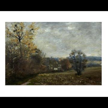 fran ois louis francais 1814 1897 paysage de for t lot n 15 tableaux arts d co. Black Bedroom Furniture Sets. Home Design Ideas